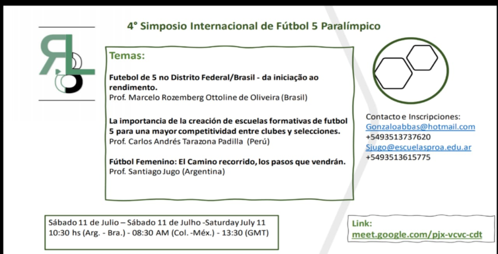 4to Simposio Internacional de Fútbol 5 Paralímpico